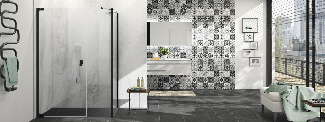 "HÜPPE EasyStyle decor ""Barcelona Tiles""}"