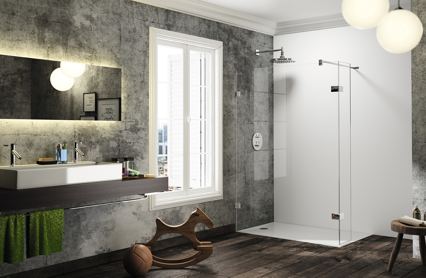 HÜPPE Solva pure Walk-In Dusche