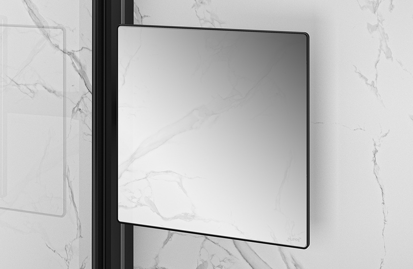 Walk-In Dusche HÜPPE Select+ Accessoire Mirror in Black Edition