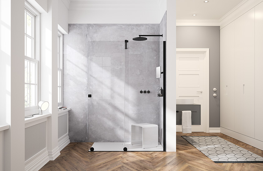 HÜPPE Select+ Kit mit Xtensa pure Walk-In Dusche
