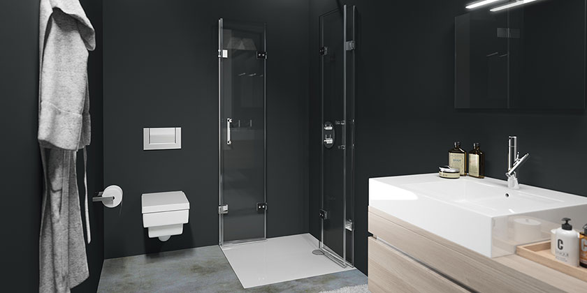 barrierefreie dusche. Black Bedroom Furniture Sets. Home Design Ideas
