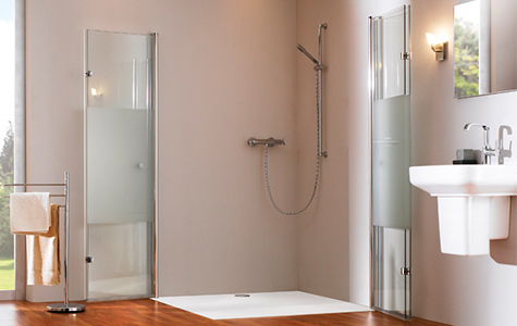 Floor-flush shower